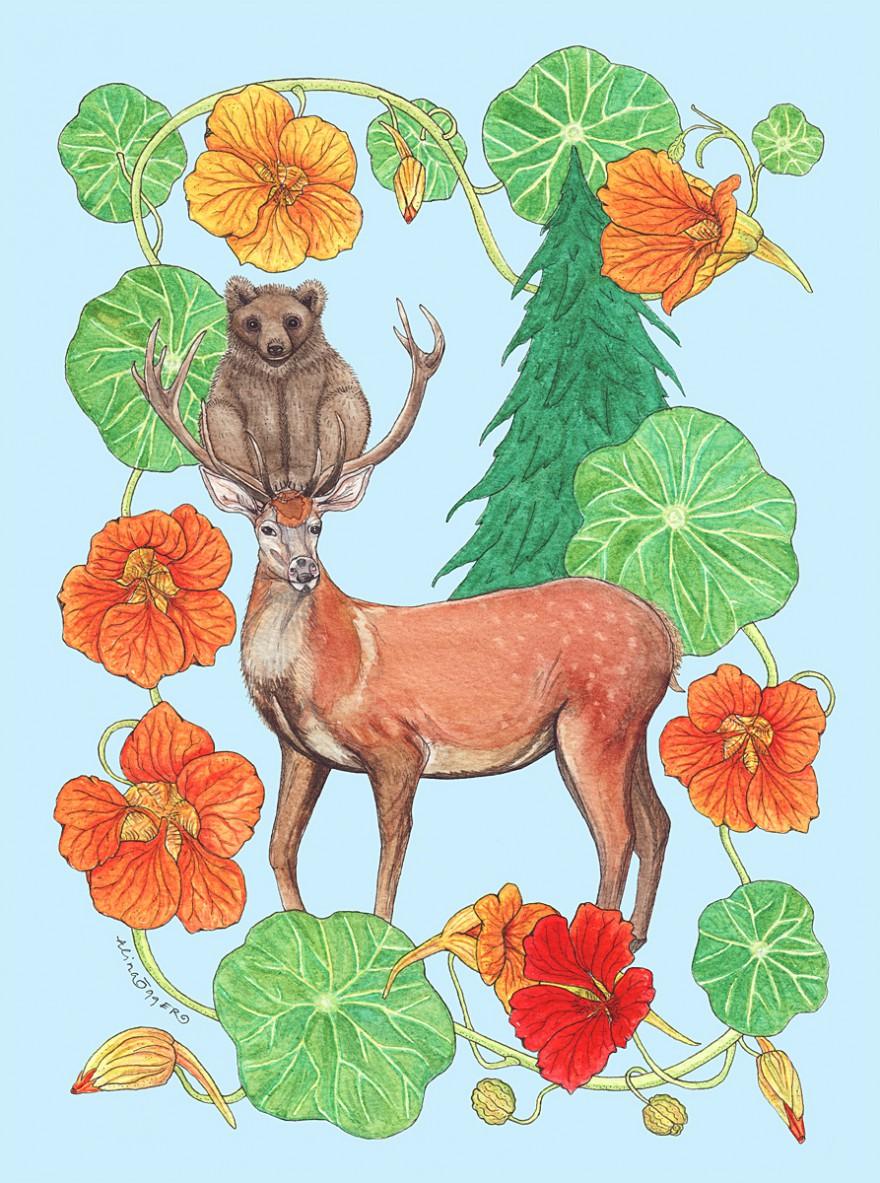 Självporträtt-kronhjort-björnunge-webb